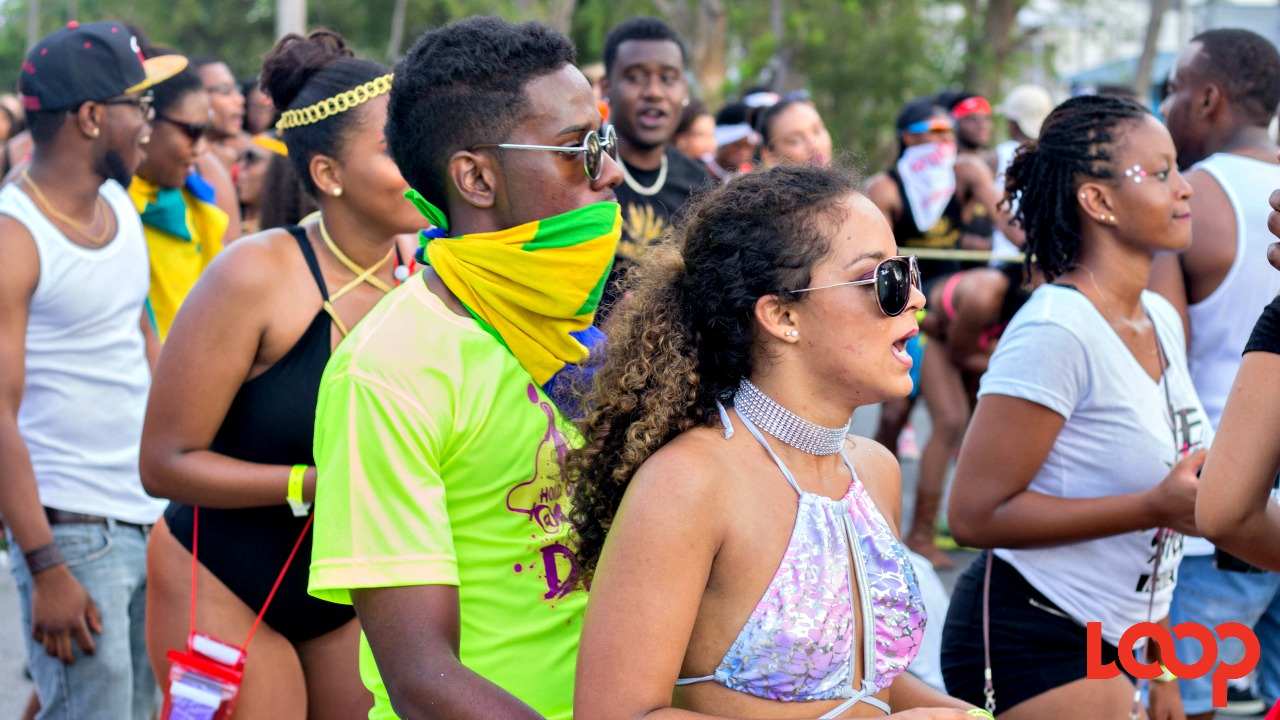 File - Revellers at the 2017 UWI Cave Hill Carnival.
