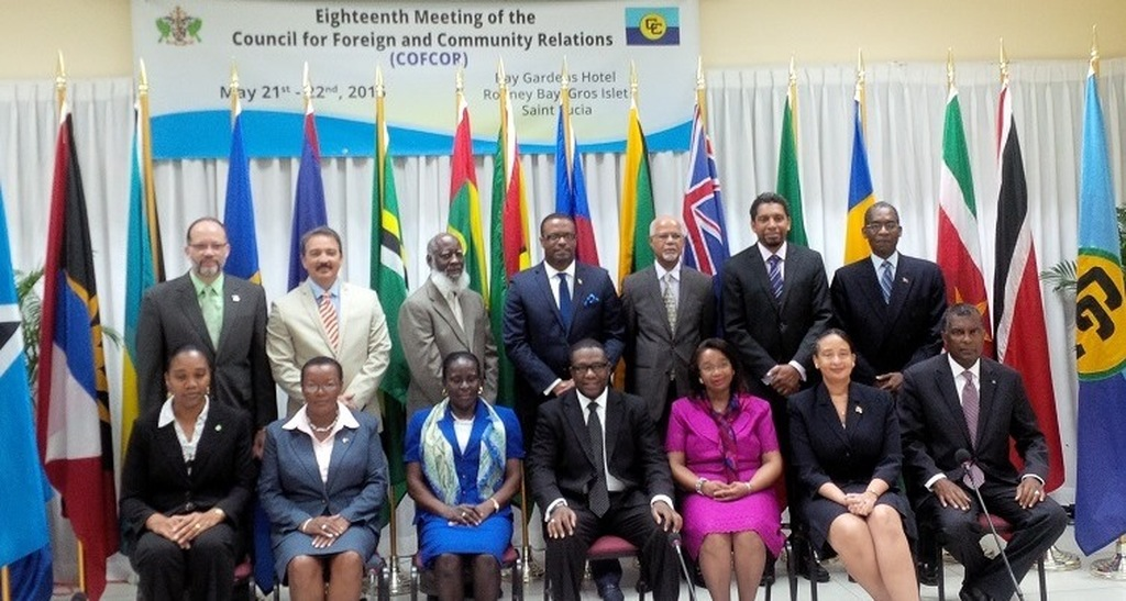 CARICOM in Barbados discussing foreign and community relations in Barbados.