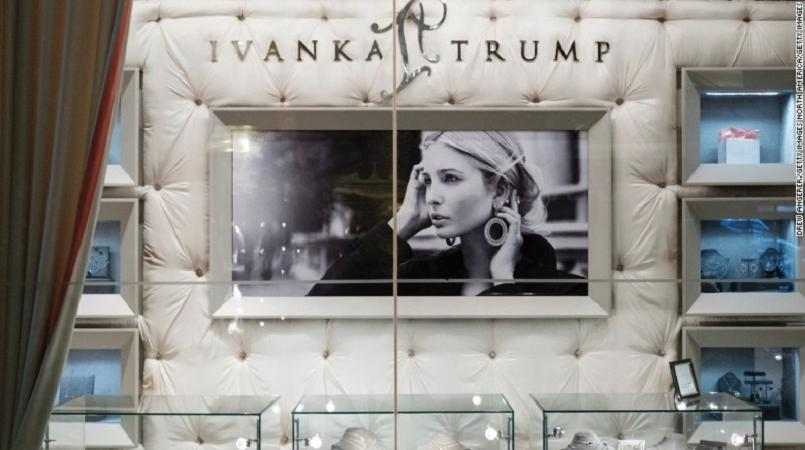Ivanka Trump pictured in frame.