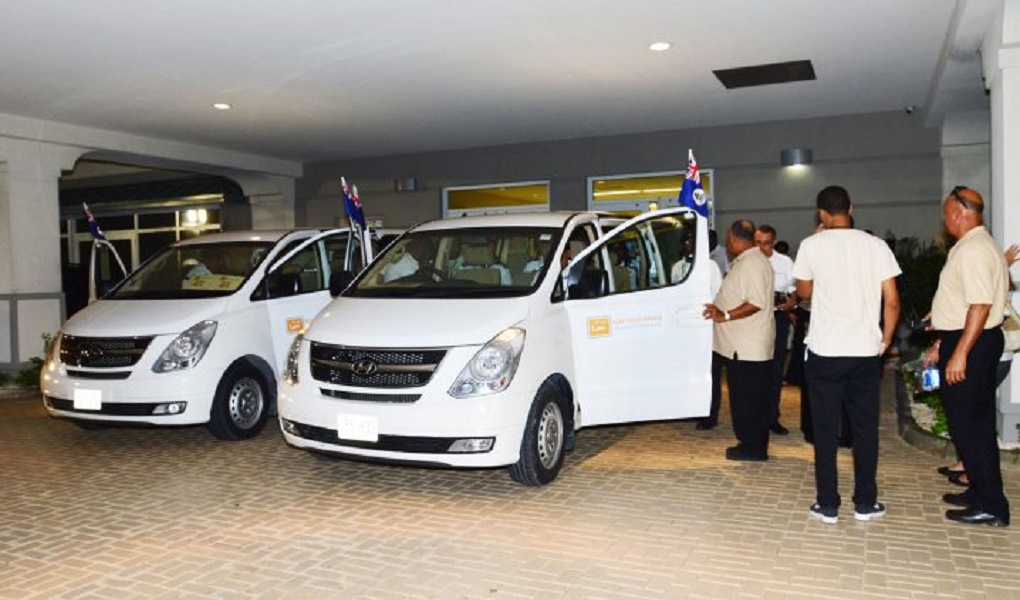 File photo of a pair of 2017 Election vans