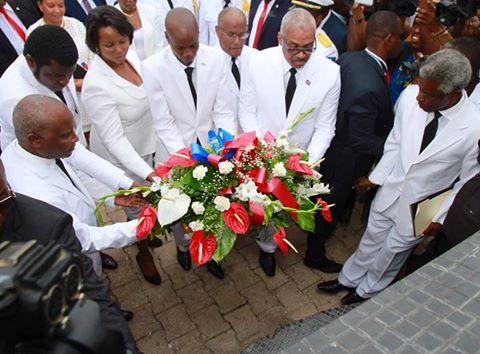 Les autorités nationales a l'Arcahaie ce 18 mai 2017  Credit photo : Présidence Haiti