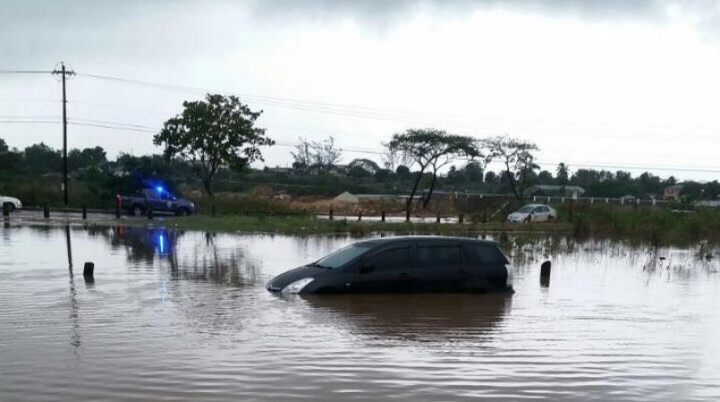 Cops warn motorists to avoid flooded areas