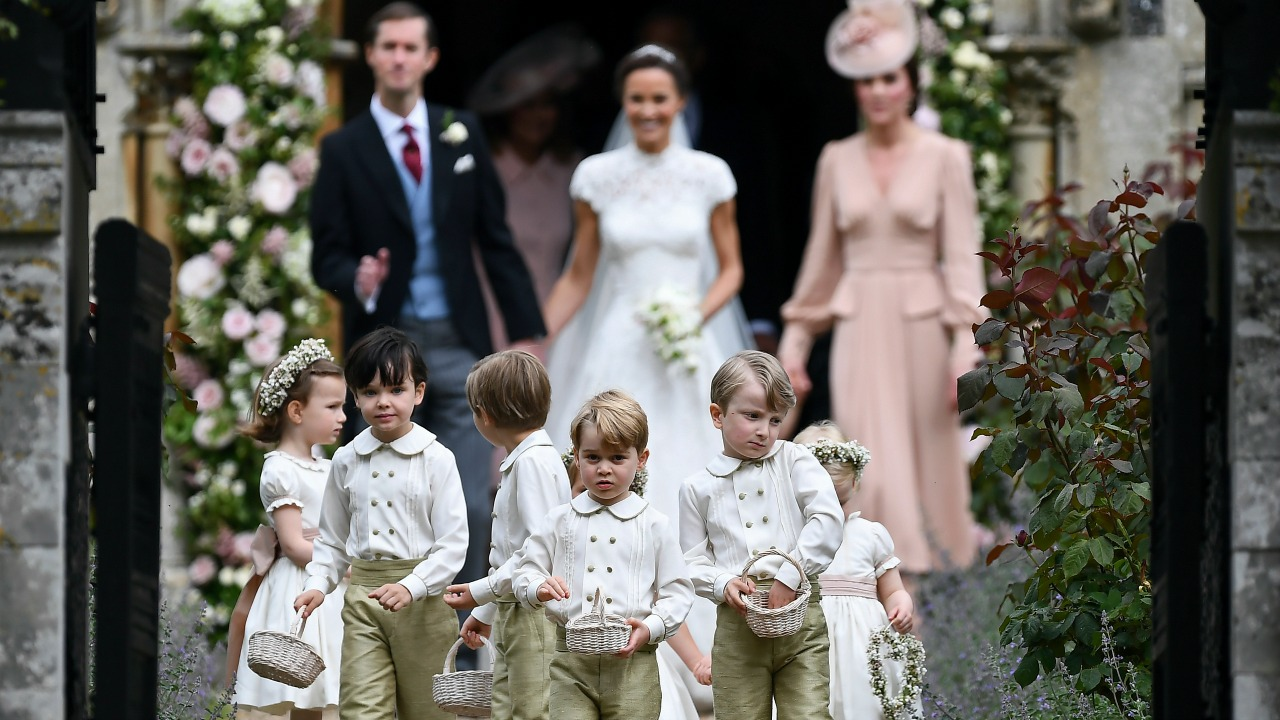 Princess Diana's grandson, Prince George, in the wedding party for his aunt Pippa Middleton.