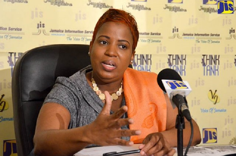 cting Permanent Secretary in the Ministry of Culture, Gender, Entertainment and Sport, Dr. Janice Lindsay, addresses a JIS Think Tank on May 18.