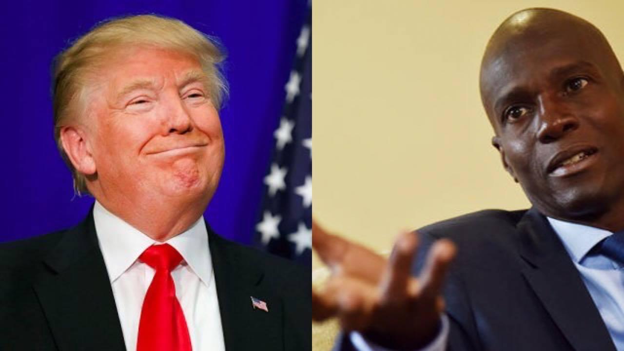 Le président américain Donald Trump et le président haïtien Jovenel Moise