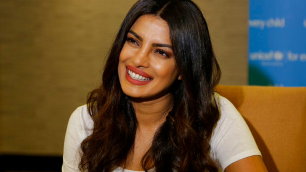 Actress Priyanka Chopra is photographed during an interview with the Associated Press in Johannesburg, Saturday, May 6, 2017. (AP Photo/Denis Farrell)