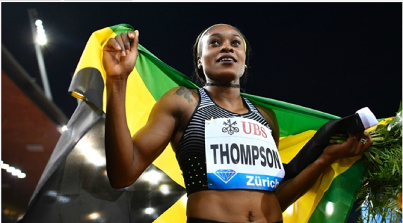 Reigning Olympic sprint double champion Elaine Thompson.