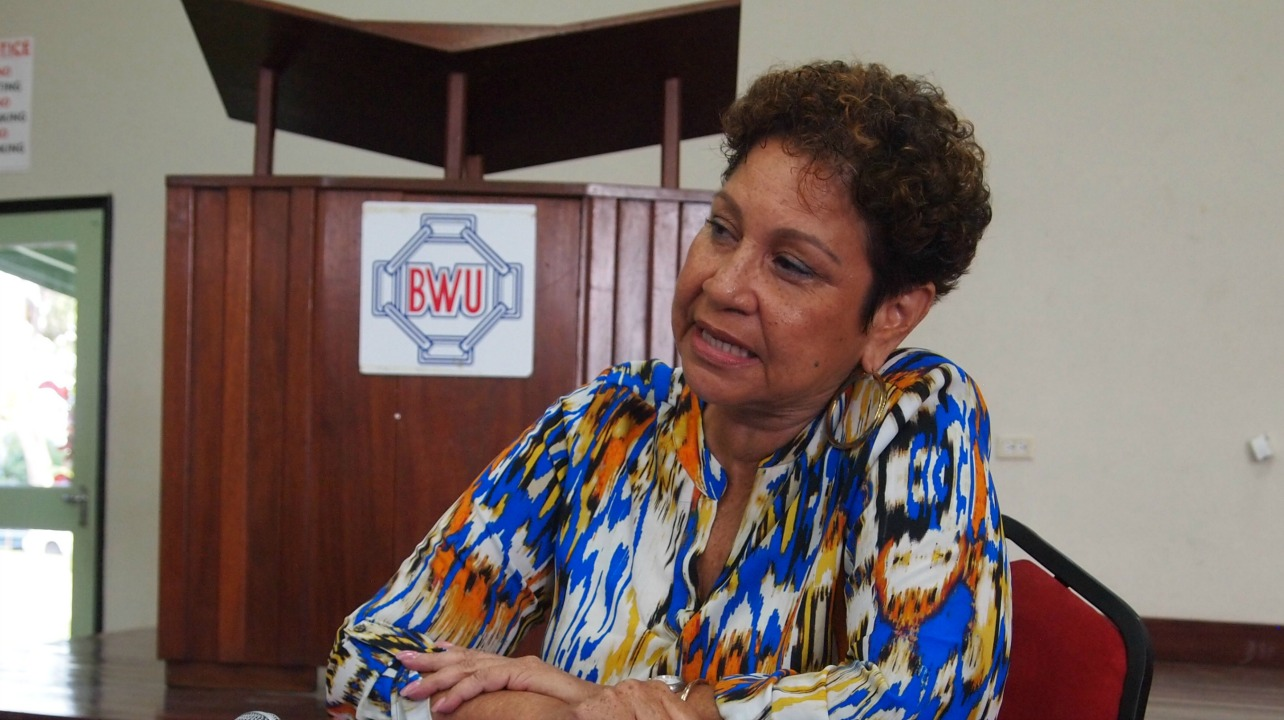 Mary Redman, President of the Barbados Secondary Teachers Union (BSTU)