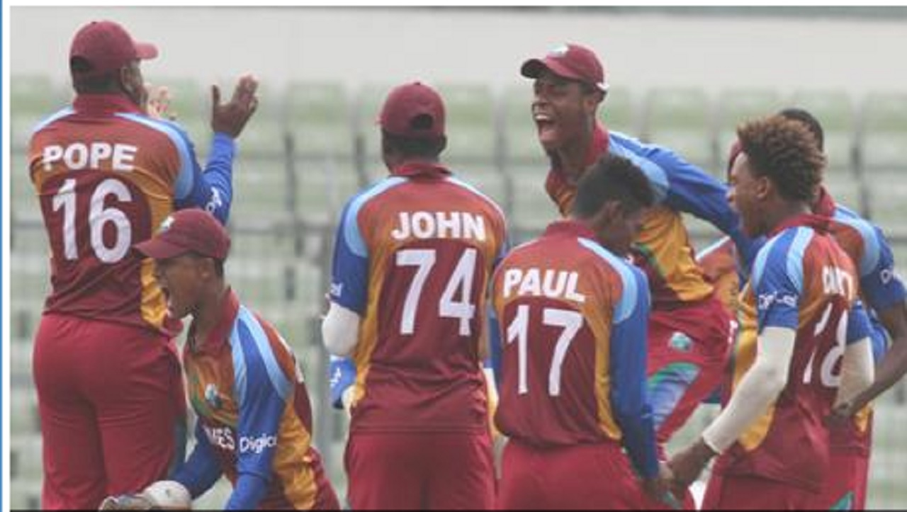 West Indies Under 19 players.