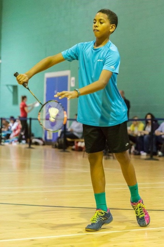 Barbados' Under 13 Badminton Champion, Harrison Griffith.