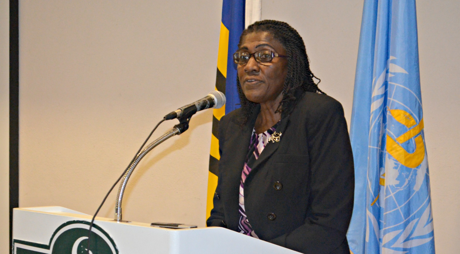 PAHO/WHO Representative for Barbados and the Eastern Caribbean countries Beryl Ions Higher