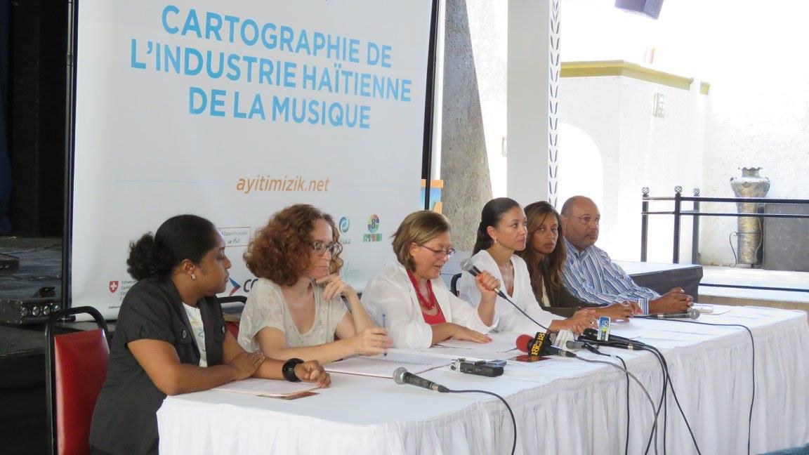 Les membres de l'Association Haitienne des professionnels de la musique, équipe pilote du projet Cartographie de l'industrie musicale haitienne.