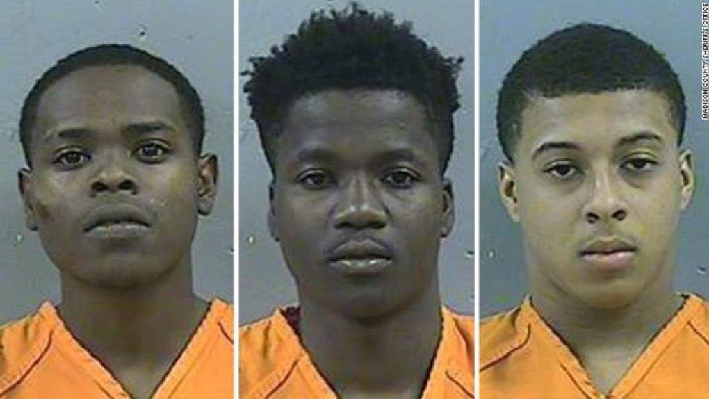 (Photo: Byron McBride, D'Allen Washington and Dwan Wakefield were arrested for the crime.)