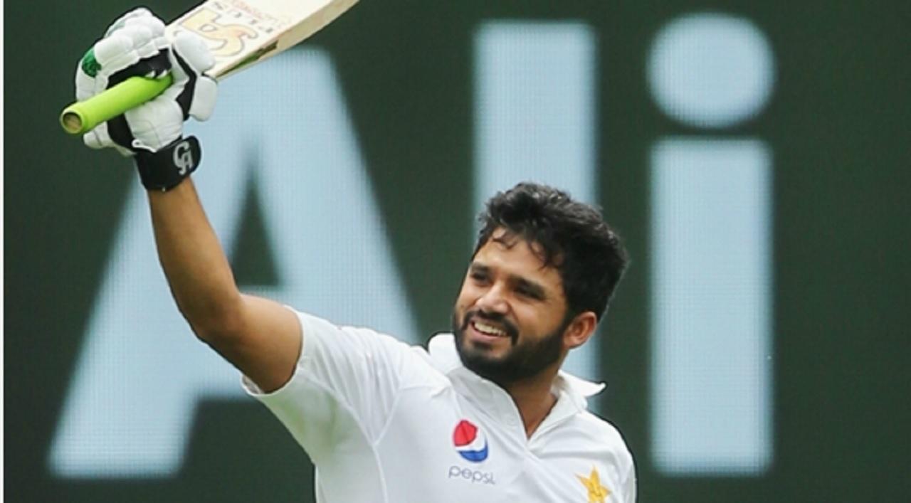 Pakistan batsman Azhar Ali who scored his 14th Test hundred.