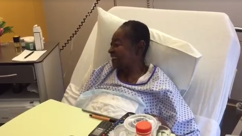 Calypso Rose being treated for gout last week