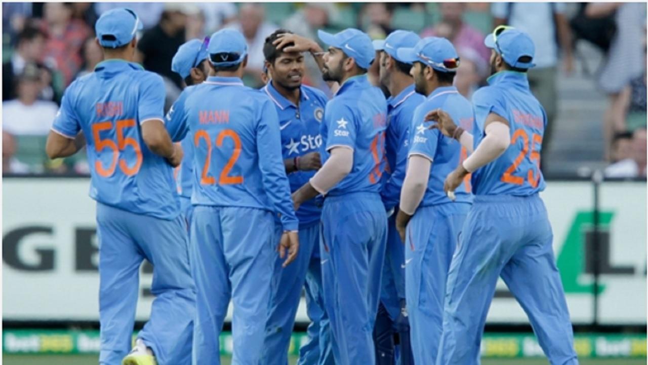 India players celebrate.