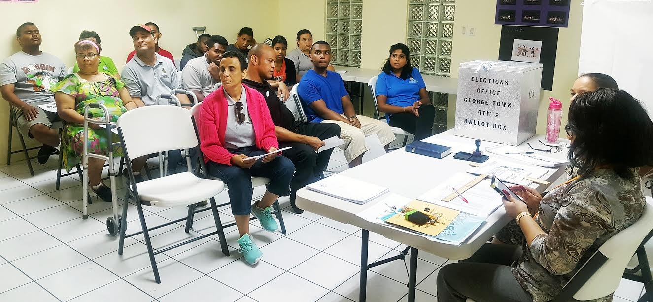 Special Needs Voters Train to Cast Ballots.