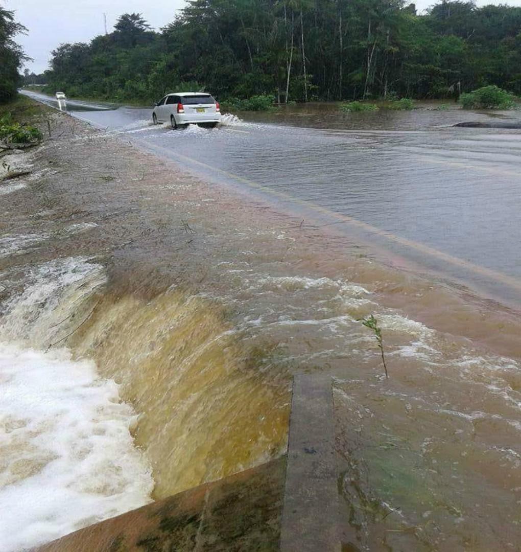 Hevige regenbuien in Suriname zorgen voor wateroverlast.