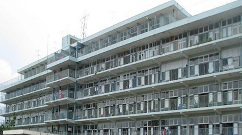 Het Academisch Ziekenhuis Paramaribo in huidige staat.