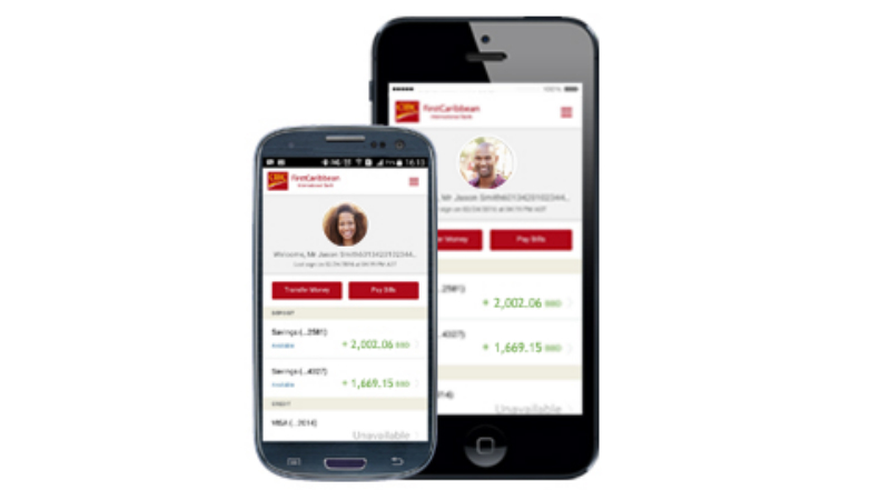 CIBC FirstCaribbean mobile app.
