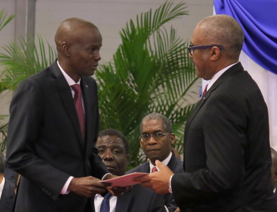 Le president Jovenel MOise et le premier ministre Jack Guy Emplafonant  Crédit photo: Présidence d'Haiti