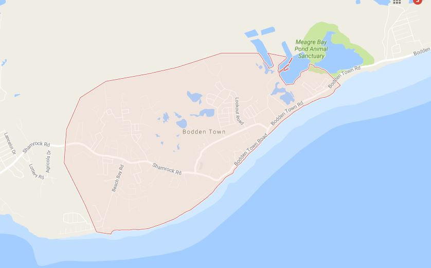 Google Maps Image of Bodden Town.