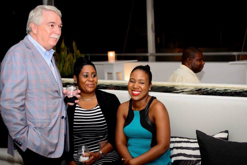 Carilend.com's Non-Executive Director and Co-Founder, Byren Innes, with members of the Carilend team at the official launch last Thursday night.