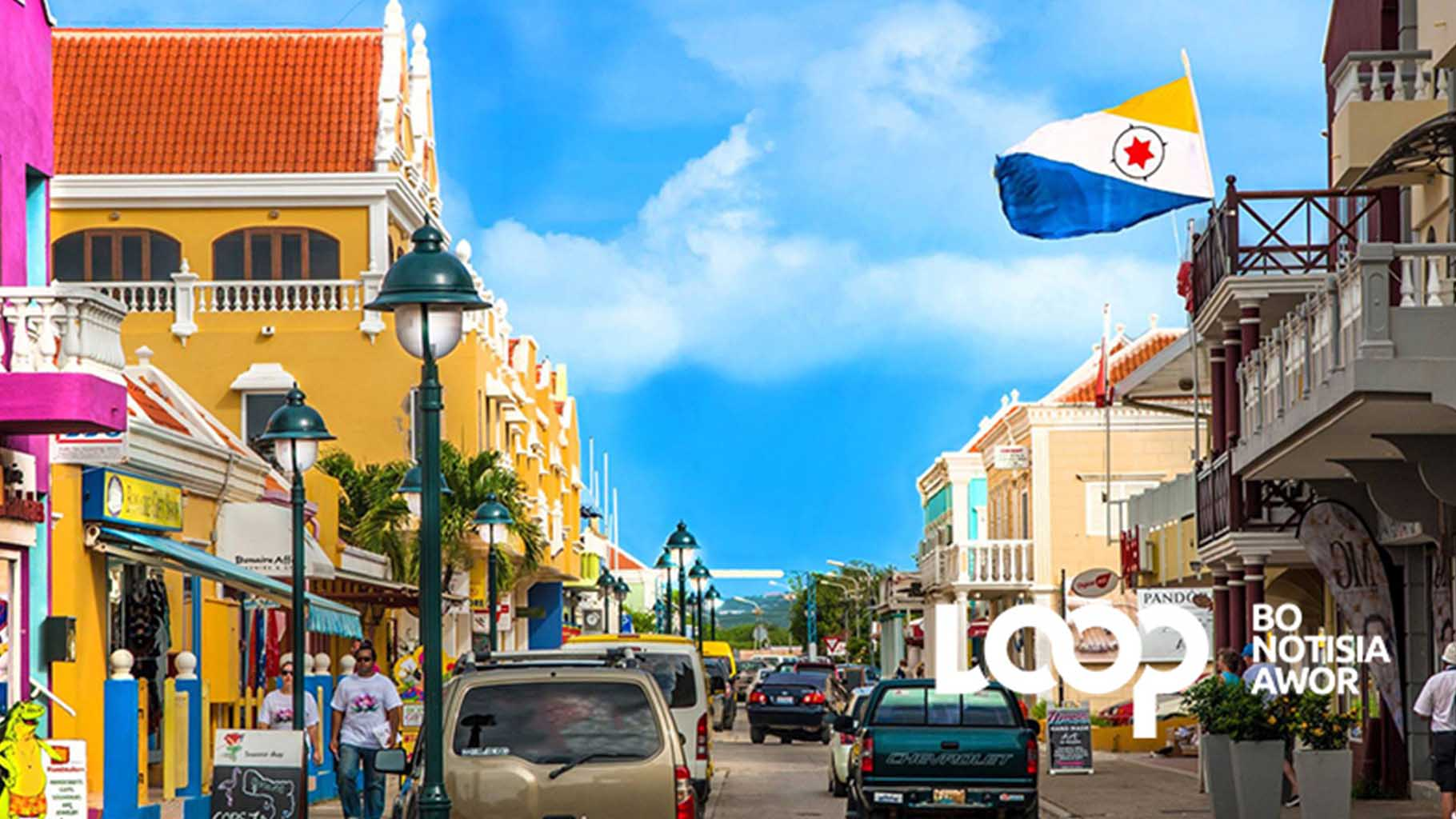 (Foto,file) Sentro di siudat Kralendijk, Bonaire.
