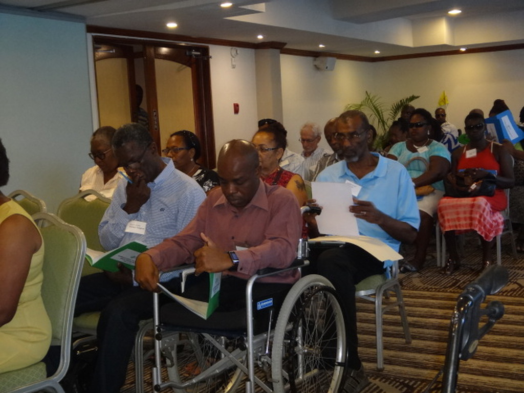Attendants at the Annual General Meeting of the Barbados Council for the Disabled.