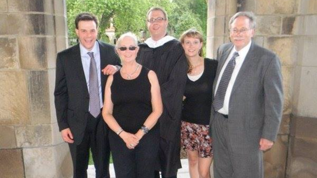 (Photo: Grant Nelson, far left, with his family in happier times)