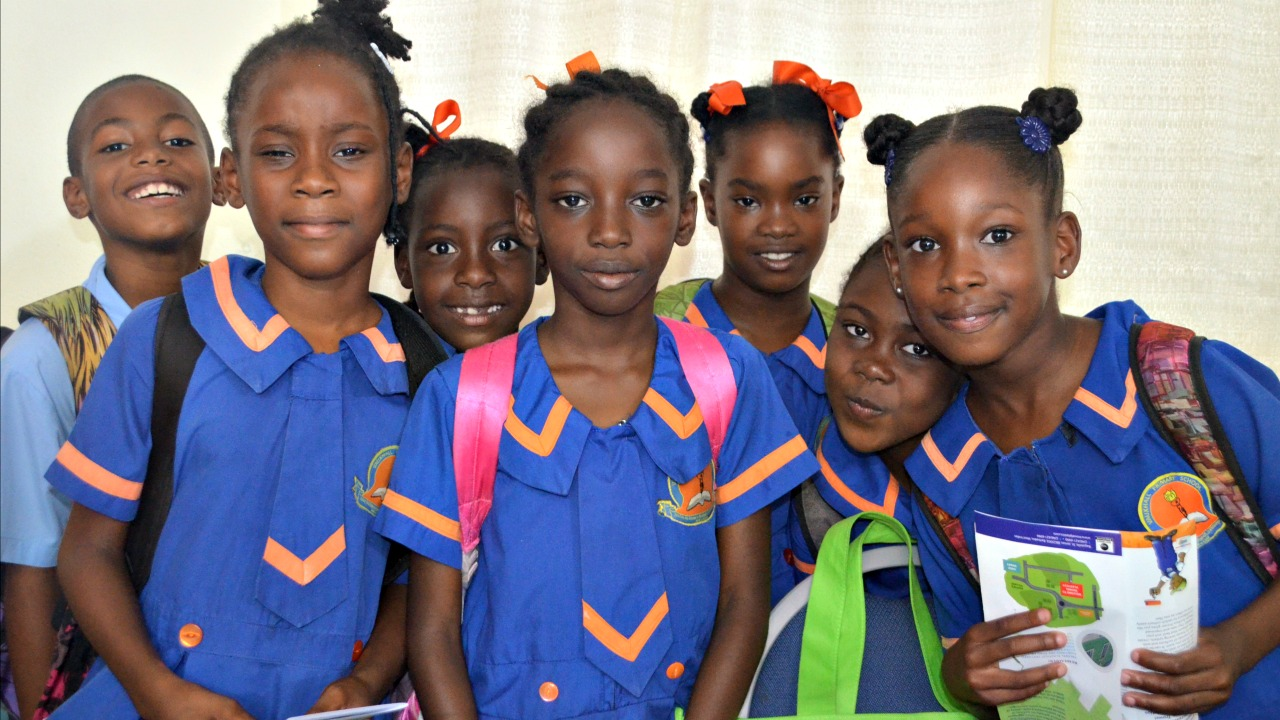 Primary school students on the opening day of BMEX 2017.
