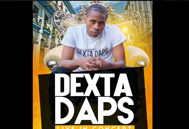 Jamaican Dancehall artiste Dexta Daps in concert
