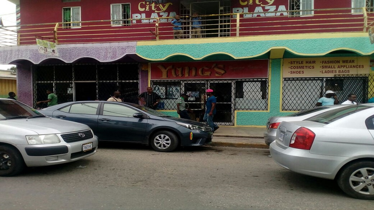 This store was among those closed after police and customs officers conducted an operation in Old Harbour on Friday.