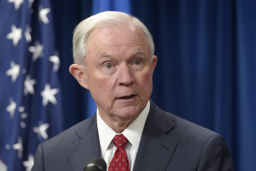 In this March 6, 2017, file photo, Attorney General Jeff Sessions speaks at the U.S. Customs and Border Protection office in Washington. Sessions, whose contacts with Russia's ambassador to the U.S. during the presidential campaign has sparked questions, agreed Saturday, June 10, to appear before the Senate intelligence committee as it investigates alleged Russian meddling in the election. (AP Photo/Susan Walsh, File)
