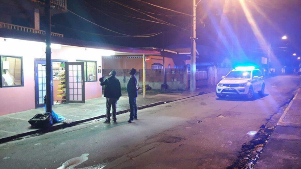 Crime scene where Yang Zeng, 33, was shot in Santa Cruz.