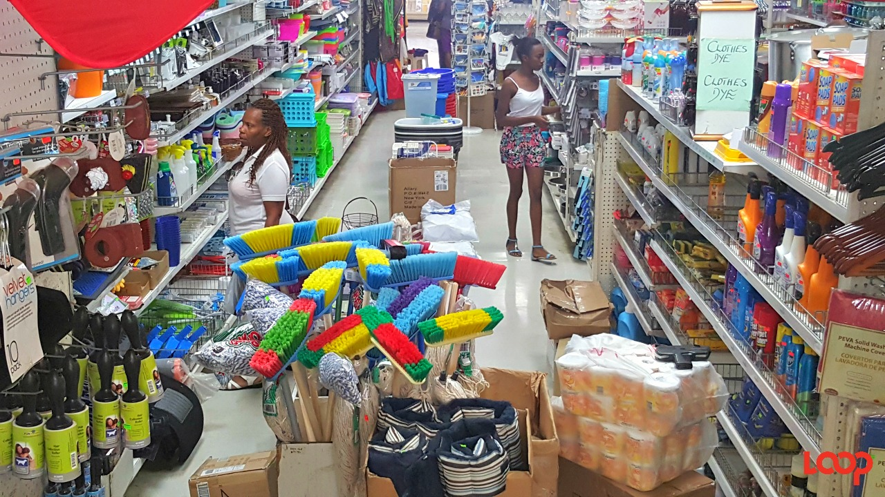 Shoppers in F.W. Woolworth Barbados.