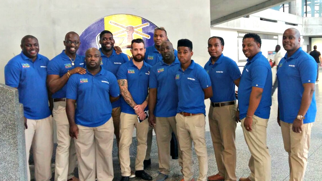 The 2017 Barbados Culinary team at the airport this morning before heading off to Taste of the Caribbean in Miami.