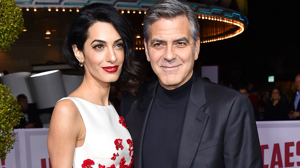 "In this Feb. 1, 2016 file photo, Amal Clooney, left, and George Clooney arrive at the world premiere of ""Hail, Caesar!"" in Los Angeles. George and Amal Clooney have welcomed twins Ella and Alexander Clooney. The pair was born Tuesday morning, June 6, 2017, according to George Clooney's publicist Stan Rosenfield. (Photo by Jordan Strauss/Invision/AP, File)"