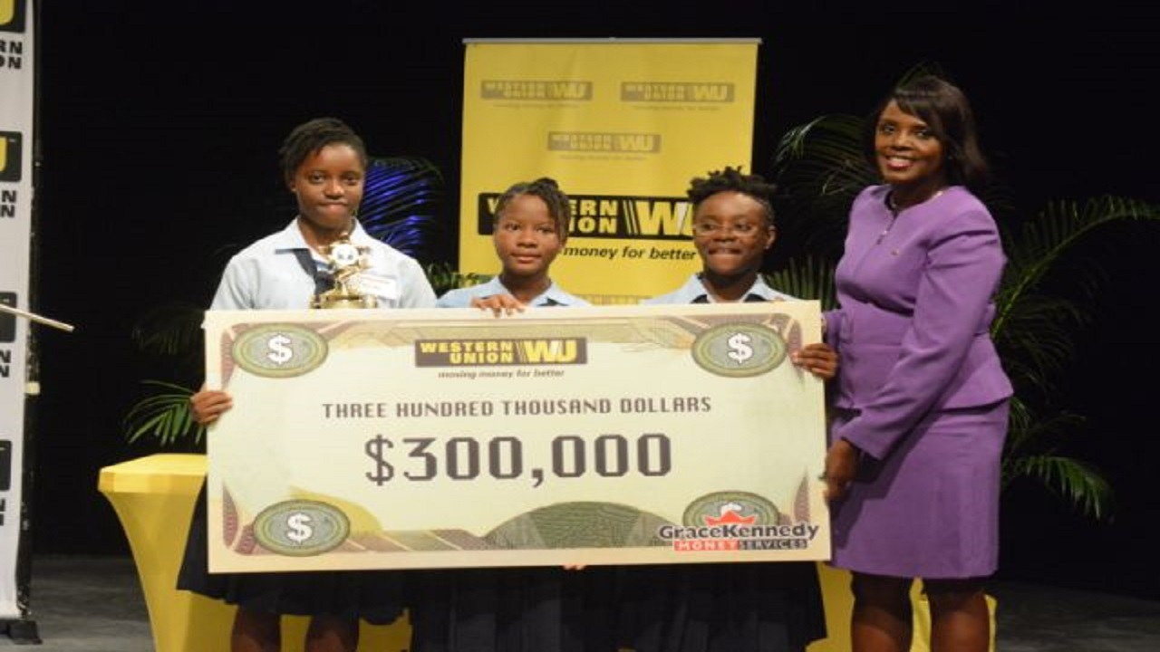 George Headley walked away with a cash award of $300,000 and trophies to the school, the team members and their head coach