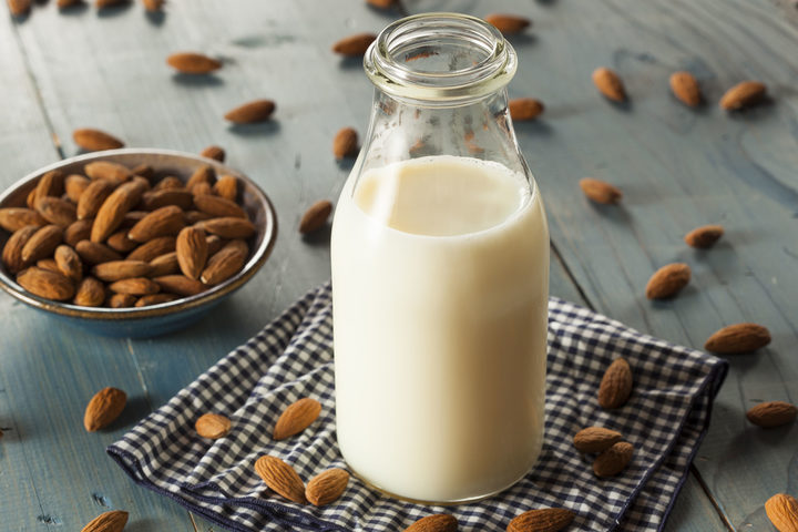 How much milk do you think is in your almond milk?