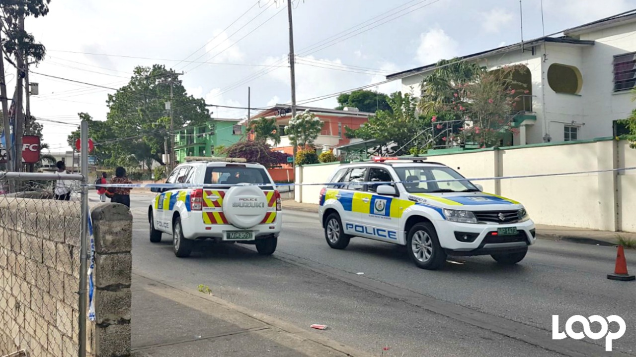 A section of Black Rock Main Road has been cordoned off.