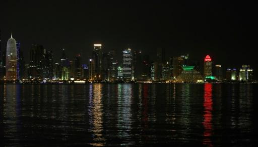 La capitale du Qatar, Doha vue de nuit le 7 juin 2017 (Photo: AFP/Archives/STR)