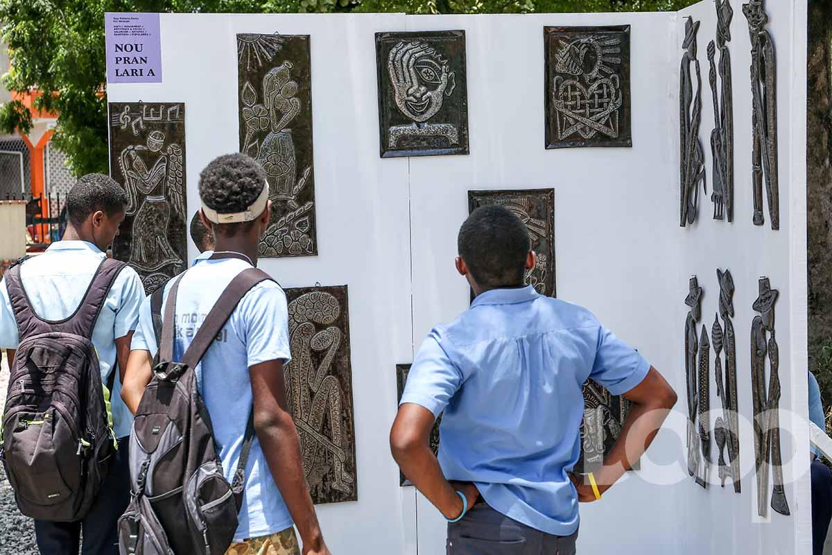 Exposition a Place Saint-Anne dans le cadre du lancement du mouvement Nou Pran Lari a/ Crédit photo: Vladjimir legagneur-Loop Haiti