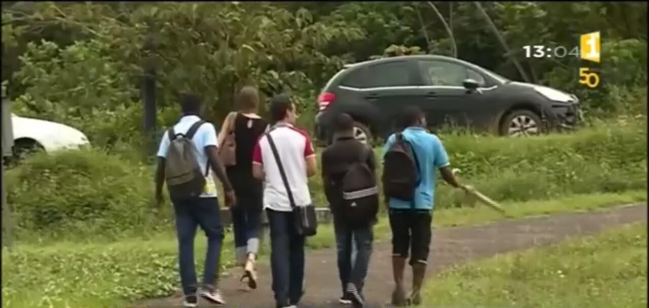 Des lycéens clandestins étudient avec l'angoisse d'être renvoyés en Haïti/ Capture d'écran de la vidéo