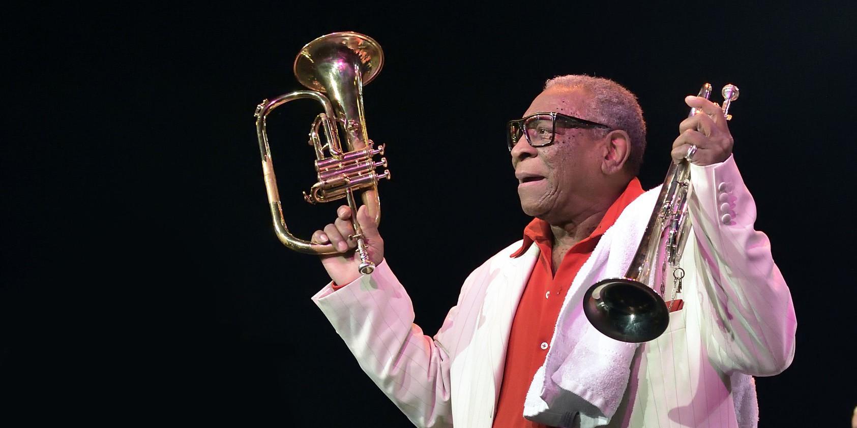 Le célèbre trompettiste cubain Ernesto Tito Puentes décédé ce jeudi matin à Montpellier à l'age de 88 ans. /Photo: Culturebox