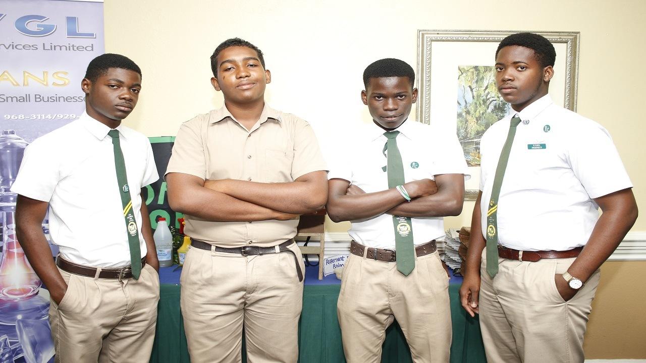Members of the winning Vere Technical High School team.