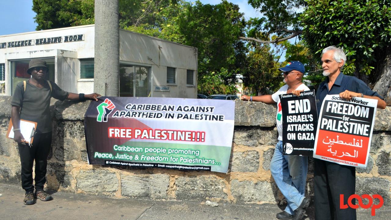 Members of the Caribbean Against Apartheid in Palestine.