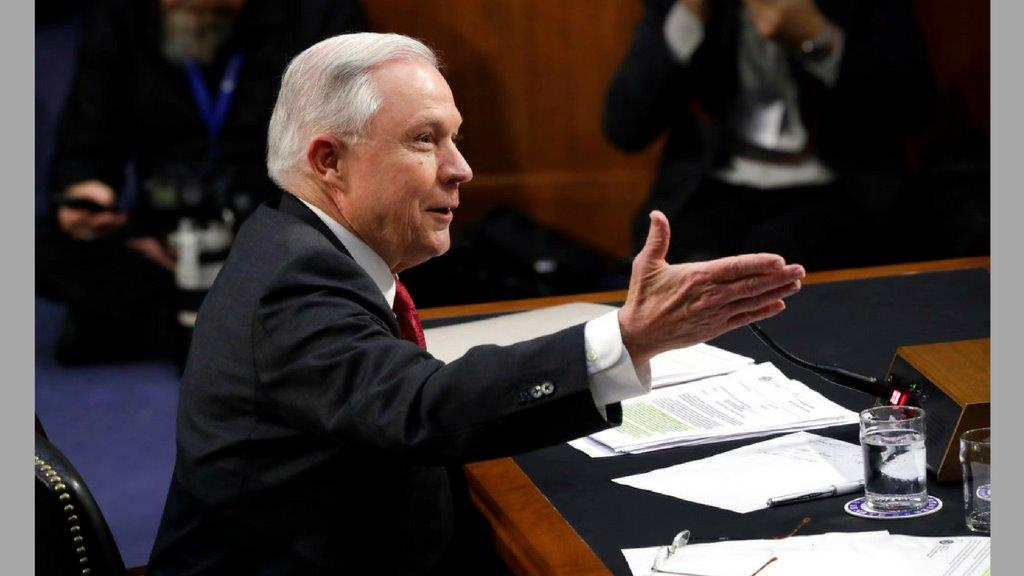 US Attorney General Jeff Sessions testifies on Capitol Hill in Washington, Tuesday, June 13, 2017, before the Senate Intelligence Committee hearing. (AP Photo)
