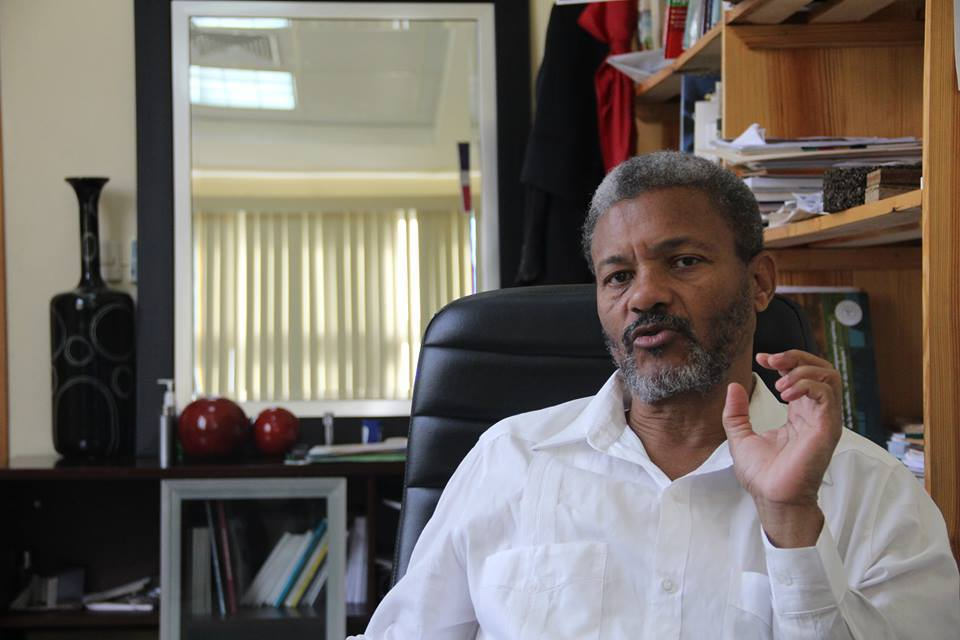Le recteur de l'Université d'Etat d'Haiti, Fritz Deshommes