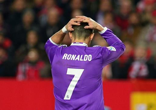 La star du Real Madrid Cristiano Ronaldo, le 15 janvier 2017 à Séville lors d'un match de championnat espagnol